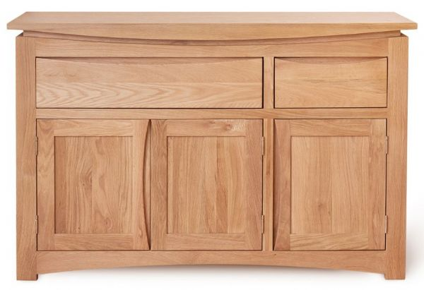 Roscoe Contemporary Oak Large 3 Door 2 Drawer Sideboard form Baumhaus CNS02B
